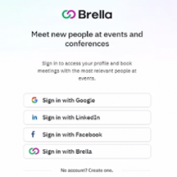 Brella Delegates Sign in